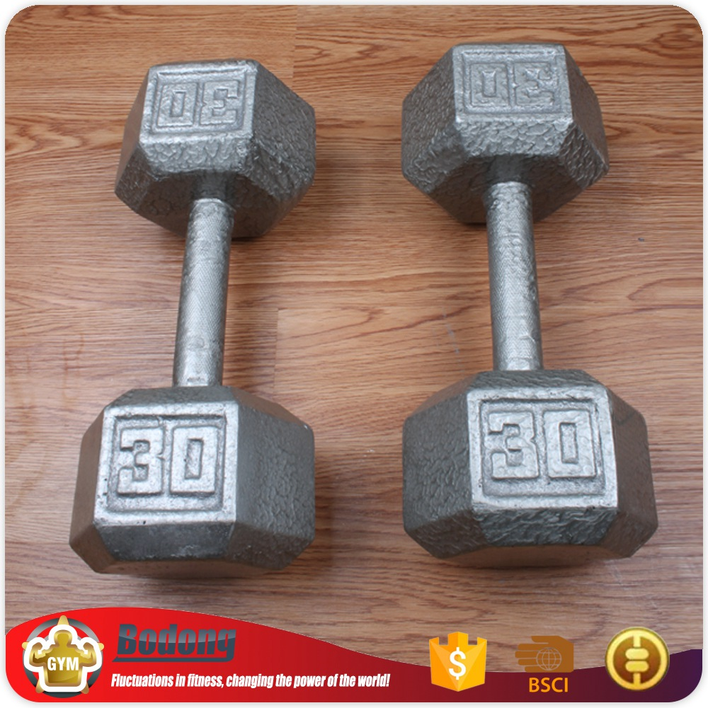OEM factory hex rubber dumbbell for promotion