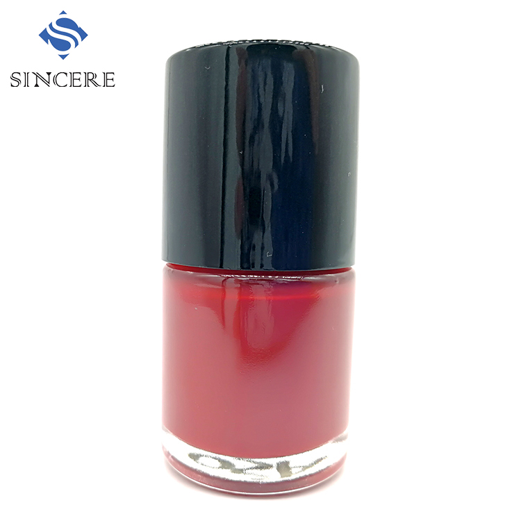 Brand sweet red color oil nutrient nail polish