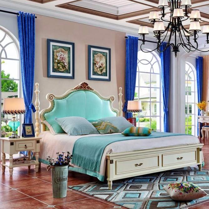 เฟอร์นิเจอร์ห้องนอนไม้ออกแบบคลาสสิกทำจากไม้โอ๊คไม้เนื้อแข็งสำหรับชุดเฟอร์นิเจอร์ห้องนอน