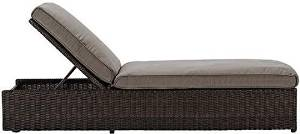 "Naples Chaise, 22-36.5""Hx27.5""Wx79.5""L, BROWN PUTTY"
