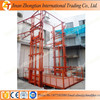 Hydraulic chain guide rail cargo elevator lift, electric goods lift with low price