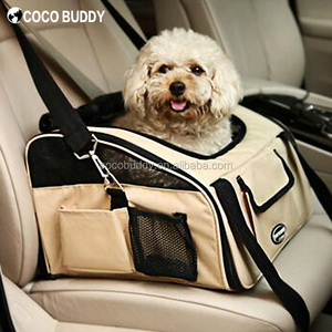 Hot Beige Color 600D Foldable Car Seat Puppy Dog Tote Carrier Bag Pet Dog Booster Seat
