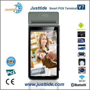 Justtide Factory Price Handheld Mobile POS, Bus POS, Parking POS