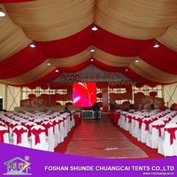 New Product Customized Luxury Party Marquee Aluminum Structures Exhibition Tent White Outdoor Party Wedding Tent For Event