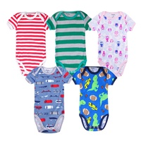 New Style Colorful Summer Infant&Toddler Boys Clothes New born Baby Rompers Clothing