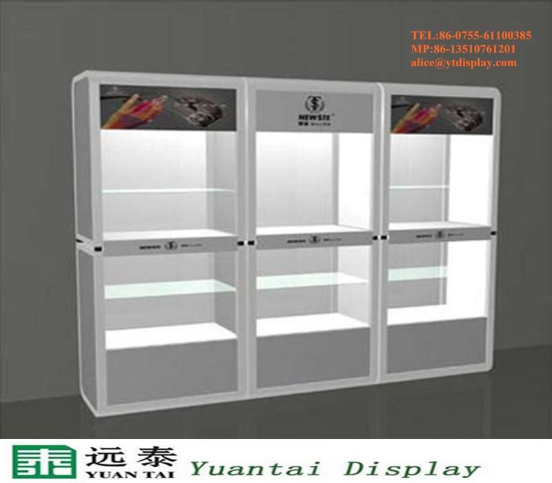 Slat Wall MDF Used Mobile Phone Shop Display Cabinet