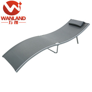 Outdoor folding iron sun lounger used pool furniture daybed/sunbed