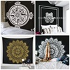 Soft And Smooth Mandala Custom Black And White Flower Tapestry Wall Hangings