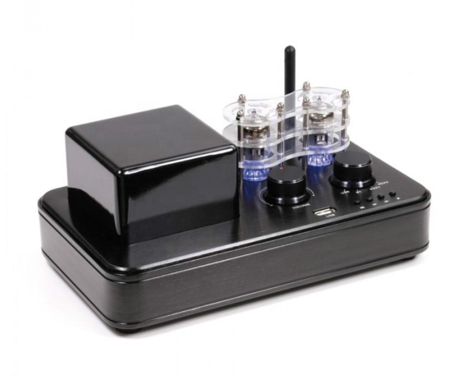 Hifi Audio Tube Amplifier,Bluetooth Vacuum Amplifier with USB,AUX,Sub out, Black