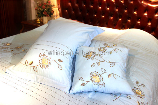 Ribbon Embroidery Cushion Coversribbon Embroidery Bed Cover