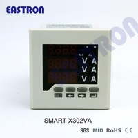 Smart X302VA three phase digital voltage and ampere panel meter, amp meter, current meter, 96*96