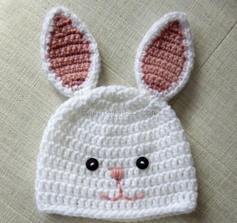 Coolwin hecho a mano lindo del bebé sombreros niños gorro conejo ...