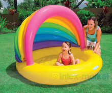 Factory wholesale INTEX 57420 rainbow baby inflatable pool, children's swimming pool