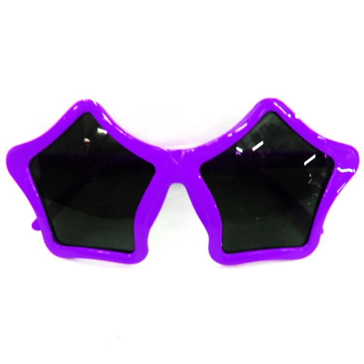 Custom Cheap Fashion Funny Purple Party Star Shape Sunglasses