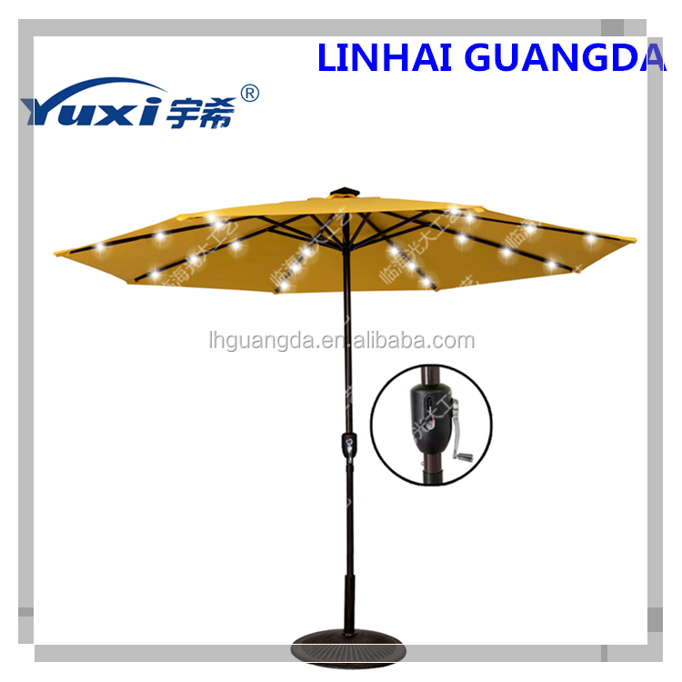 Garden parasol with USB charge/LED umbrella/Solar patio umbrella