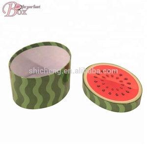 Hot Sale Popular Paper Box Water Melon Cardboard Round Paper Gift Packaging Box
