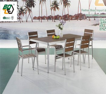 Plastic Wood Garden Dining Set Used Restaurant Dining Chair And Table