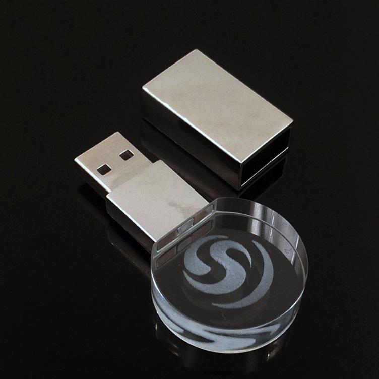 2019 FREE SAMPLE Cheap Customized LOGO acrylic 16G flash drive / Glass crystal USB 2.0 pen drive Memory /usb flash drive crystal