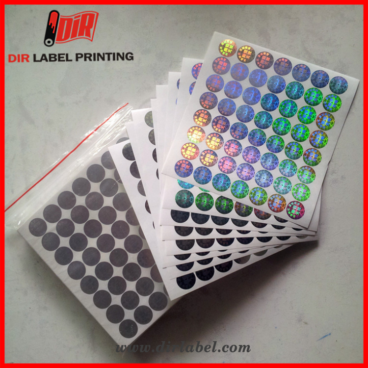 2017 hot reflective custom private label anticounterfeiting 3d hologram sticker
