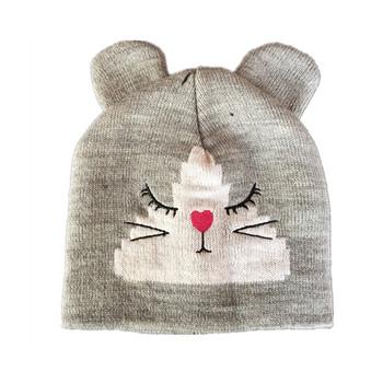 Kinder Niedlichen Tier Zopf Häkeln Stricken Mütze Hut Mit Zwei Ohren