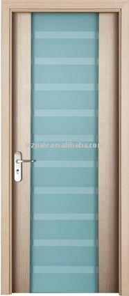 Vitrage en verre int rieur porte en bois porte de - Porte en verre salle de bain ...