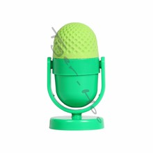 Adjustable Classic Novelty Microphone Shaped Promotional Office Supplies With Eraser