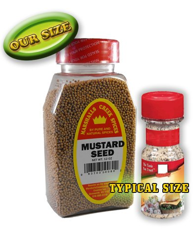 New Size Marshalls Creek Spices MUSTARD SEED WHOLE FRESHLY PACKED, 12 ounces