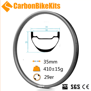 CarbonBikeKits bicycle light 29 carbon mtb rim for mtb wheells S-XC29-35