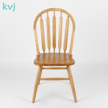 kvj-4052 classic luxury oak ash solid wood windsor side chairs