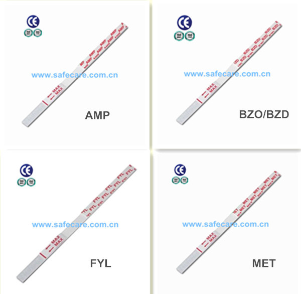 Rapid AMP Saliva Single Test Strip/Drug of Abuse Test Kit/CE&FDA Approved