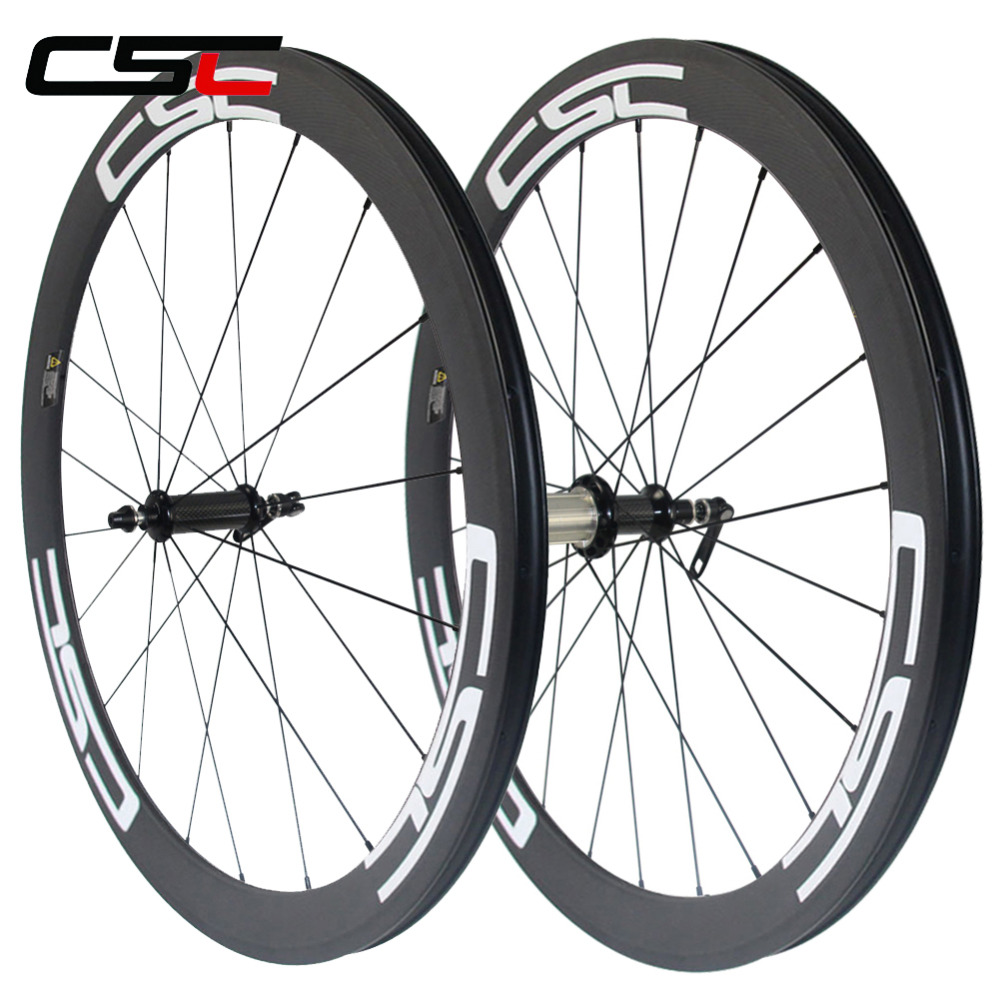 Carbon Road Bicycles wheels 700C 23mm Wide 50mm Clincher Carbon Wheelset Powerway R36 straight pull фото