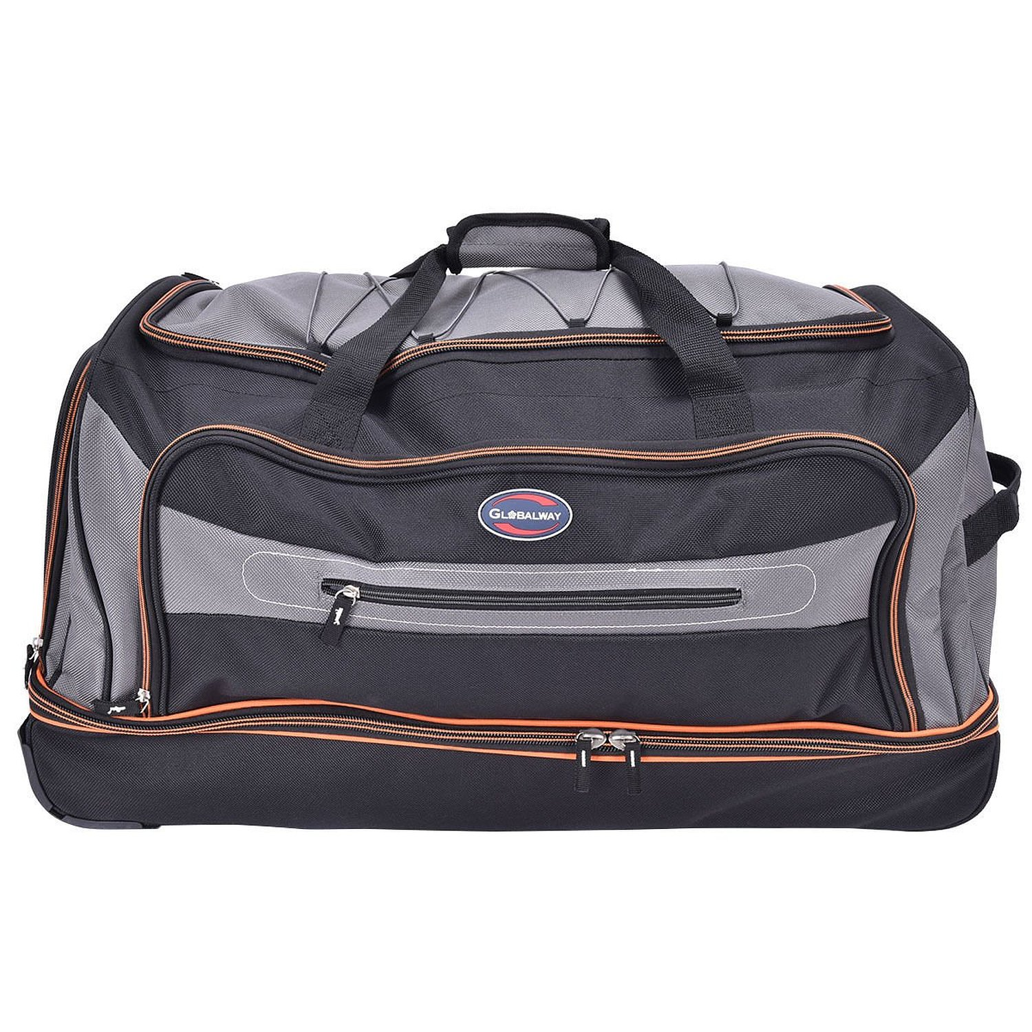 Tangkula 30 Drop Bottom Rolling Wheeled Duffel Bag Carry On Luggage Travel Suitcase
