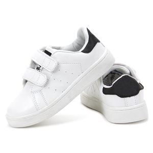 Cheap price footwear casual unisex kids white children school shoes