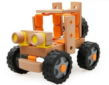 Cambiable Coche De Madera Juguetes Creativos Diy Camión Madera