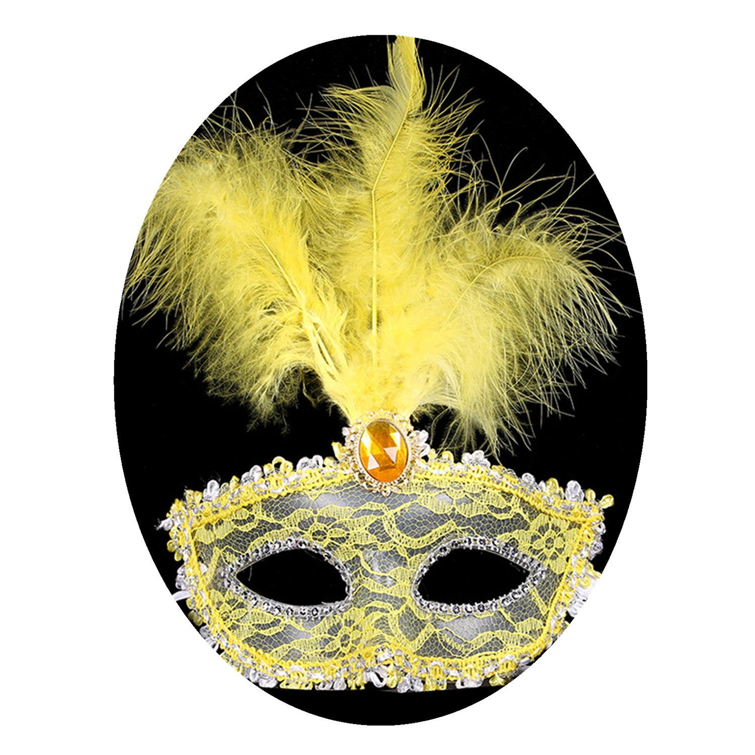 Buy Princess feather halloween venetian mask for party decoration ...