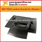 JC style carbon fiber engine hood For Mazda 3 RX7 FD3S JC style carbon hoods with hole