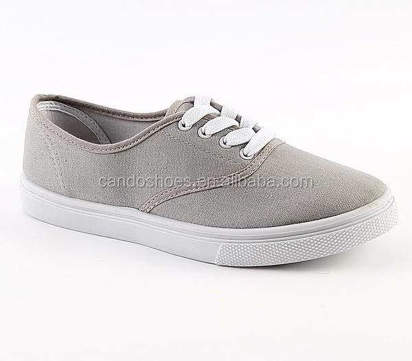 casual shoes comfortable grey upper women sneaker pcv canvas shoes