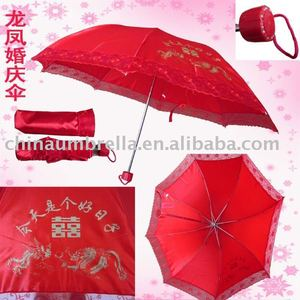 factory custom made fashion wedding lace umbrella parasol