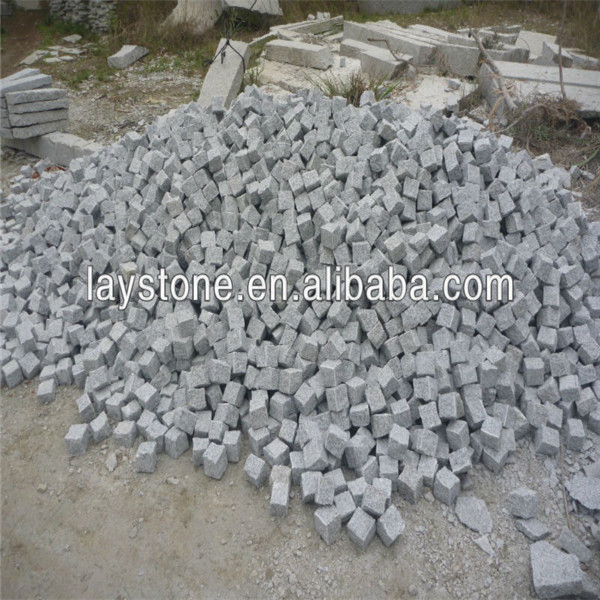 Nice natural split G603 granite cube stone
