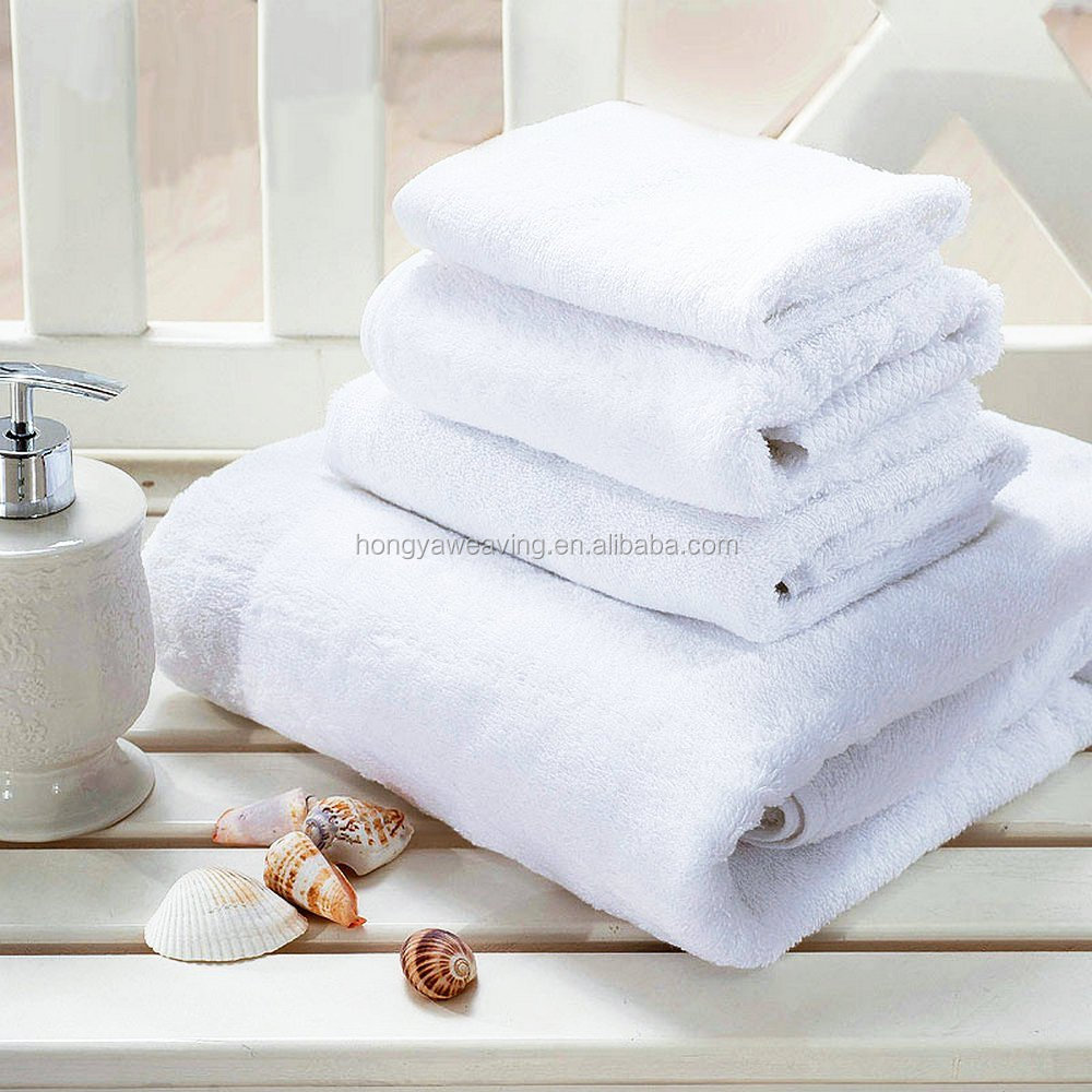 save 20% customized plain towel set for wholesale