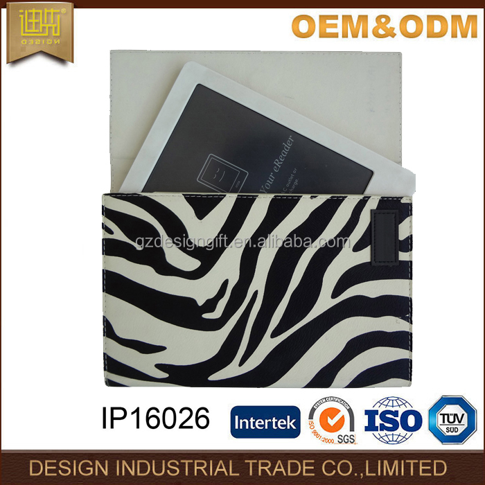 Zebra pattern hot sale electronics book case ebook reader cover