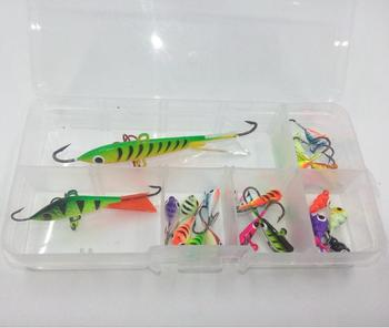 Colorful ice fishing tungsten jig drop Ice fishing lure by box mixed design mixed colours 25pcs each box