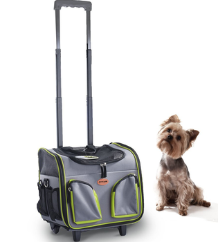 f752748b7003 Airline approved dog carriers pet carrier on wheels travel rolling Luggage  dog bags walking with mat