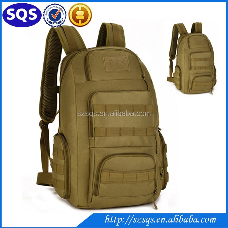 Tactical Molle Camel Pack Outdoor Sports Hiking Camping Climbing Bag Paintball Backpack Bag Tan