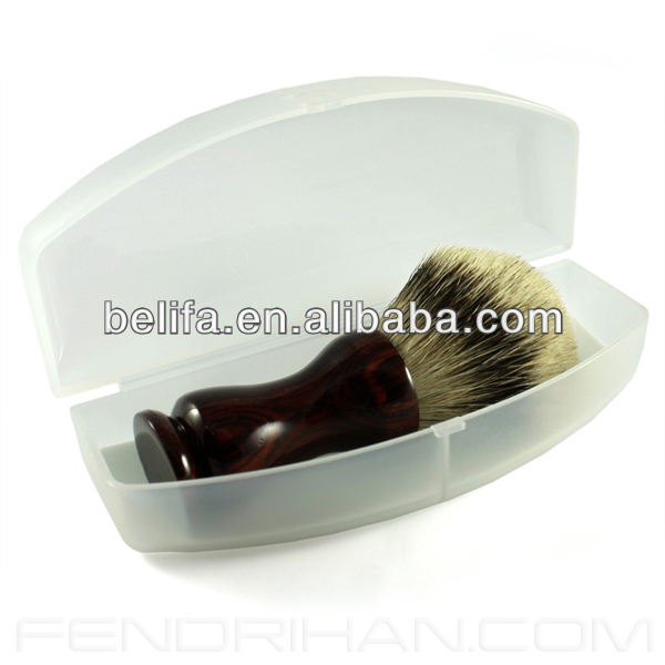 Wholesale black Men's shaving brush set with case professional cosmetic personal care 2014 factory china