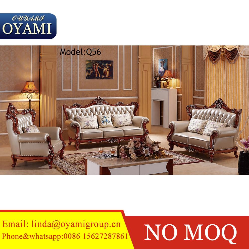 Lujo Europeo Cl Sico Sof Set Talla De Madera Sof Set Oro Muebles  # Muebles Sala Set