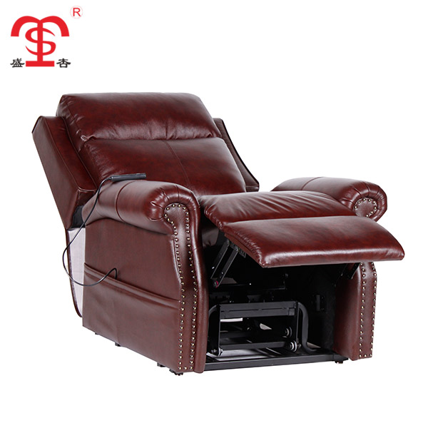 French Country Style Extra Large Red Sectional Leather Recliner Sofa - Buy  Cream Leather Recliner Sofa,French Provincial Leather Sofa,Modern Style ...
