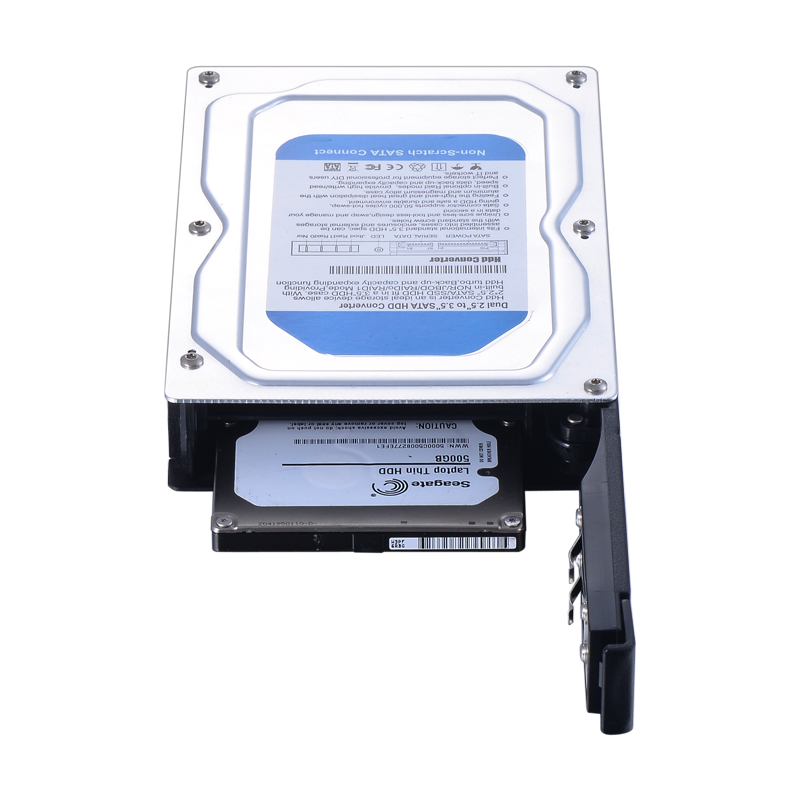 dual bay 2.5 inch internal SATA hdd converter mobile rack support 7-9.5 thickness hdd with hot swap with jbod raid1 raid0 nor
