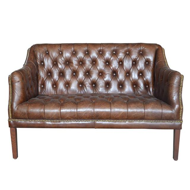 Tan Leather Chesterfield Sofa Chair