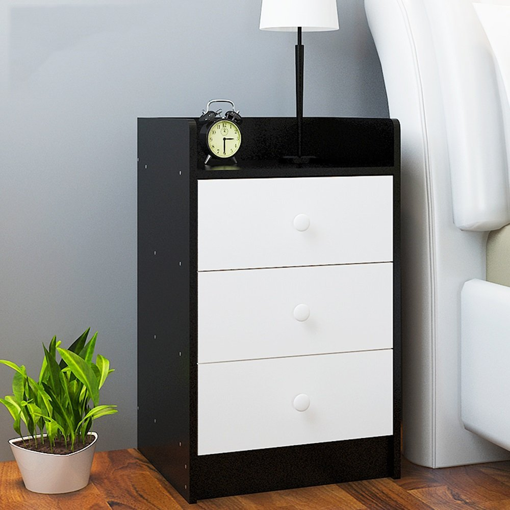 PM-Nightstands Bedside Cabinet Bedroom Lockers Multi - Functional Side Cabinets Bedside Storage Cabinets (Color : E-36.53460)